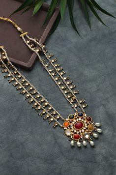 Urmi Navrattan Necklace with Fresh Water Pearls Turquoise Jewelry, Jewelry Art, Silver Jewelry, Jewelry Design, Silver Rings, India Jewelry, Designer Jewelry, Silver Cuff, Sterling Silver
