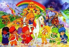 "In Danish it's ""Regnbue Rita"". In English it's ""Rainbow Brite"". I had a Rainbow Brite puzzle when I was a kid Love Rainbow, Over The Rainbow, Rainbow Colors, Bright Colors, Rainbow Brite, 80s Kids, I Remember When, My Childhood Memories, Childhood Toys"