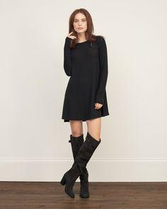 Womens Textured Easy Dress | Womens Dresses & Rompers | eu.Abercrombie.com