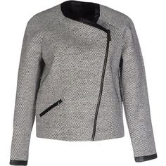 Karl Lagerfeld Blazer ($225) ❤ liked on Polyvore featuring outerwear, jackets, blazers, black, blazer jacket, karl lagerfeld, zipper jacket, single breasted jacket and karl lagerfeld jacket