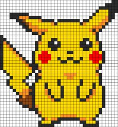 Bead Perler Designs Patterns | Pikachu Perler Bead Pattern / Bead Sprite #brickstitch