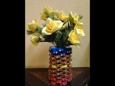 How To Use Waste Bottles For Decoration Household Waste Art  Art Art Art And Flower