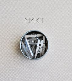 Bulk mini clothes pins metallic silver 50 clothespins by inkkit, $12.00