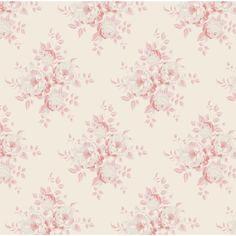 Tilda Summer Fair Fabric Fat Quarter - Mina Pink Plrs modèle de papier peint