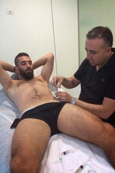 Arda Turan, via Shirtless Soccer Players  That's not acupuncture, but I sure like the view.