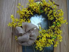 Items similar to Forsythia Wreath Yellow Wreath Spring and Summer Wreath Summer Wreath Front Door Wreath Wreath Easter Wreath Easter Decor Hostess Gift on Etsy Purple Wreath, White Wreath, Green Wreath, Floral Wreath, Forsythia Wreath, Twig Wreath, Wreath Crafts, Boxwood Wreath, Indoor Wreath