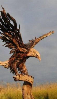Beautiful Bald Eagle Carving!