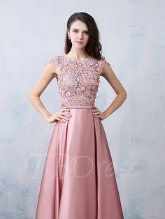 A-Line/Princess Satin Prom Dresses Beading Bow(s) Scoop Neck Sleeveless Floor-Length Prom Dresses 2016, Pink Prom Dresses, Cheap Prom Dresses, Ball Dresses, Nice Dresses, Girls Dresses, Formal Dresses, Maroon Prom Dress, Bridesmaid Dress Colors