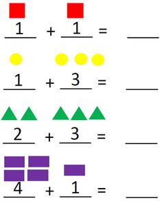 Count the shapes Color Worksheets For Preschool, First Grade Math Worksheets, Addition And Subtraction Worksheets, Kids Math Worksheets, Numbers Preschool, Community Helpers Worksheets, Learning English For Kids, Grande Section, Teacher Cards