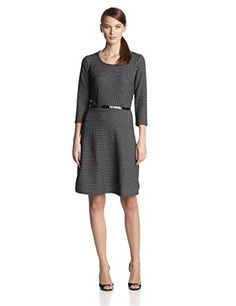 NY Collection Women's Dotted Novelty Knit 3/4 Sleeve Fit N' Flare Dress with Belted Waist, White Atoms, Large NY Collection http://www.amazon.com/dp/B00NXX2KXQ/ref=cm_sw_r_pi_dp_Ls8kvb0P5WZ3A