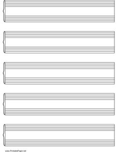 Grand Staff Music Paper on letter-sized paper Paper