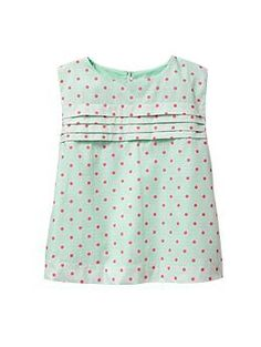 Pleated circle top | Gap  I know this is a toddler's top, but I loved the simplicity of its construction, cotton with a solid light cotton layer lining, and I love the pleats. Key hole closure. Mark more feminine less cutesy