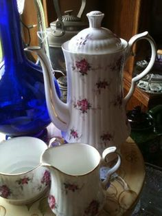 spode tea set from my collection. available for sale...$75  teapots4u.com  #teapotsntreasures I can mail! 317.500.1079