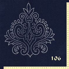 Produkte Hand Work Embroidery, Damask, Indigo, Playing Cards, Bed Sheets, Stitch, Ornaments, Embroidered Flowers, Art