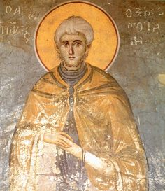 St. Paul of Xeropotamou, fresco by Panselinos, Protaton, Mount Athos
