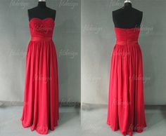 red bridesmaid dress long bridesmaid dress modest by fitdesign, $117.00