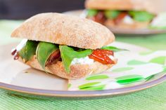 Goats cheese and roasted pepper ciabatta - well worth the trouble!