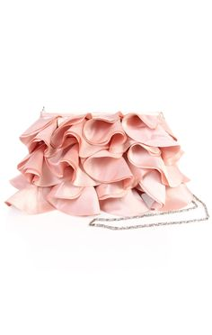 Deb Shops ruffled evening bag with chain strap