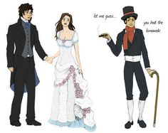 """""""Caught!"""" - the balcony scene with Will and Tessa in Clockwork Prince, that Magnus interrupts"""