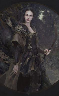 Waldelfe. by EVentrue on DeviantArt (detail)