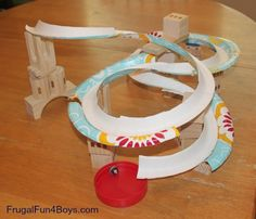 Paper Plate Marble Track - This would be a fun activity when doing the marble activities in Cub Scout Wolf Elective #4 or when doing the marble belt loop.