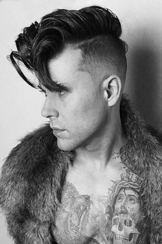 The Best Guide To The Rockabilly Hair Style With Examples - Rockabilly Style Hair Mens Rockabilly Hairstyles, Rockabilly Style Men, Mens Hairstyles Pompadour, Trendy Mens Hairstyles, Easy To Do Hairstyles, 1950s Hairstyles, Undercut Hairstyles, Rockabilly Fashion, Fringe Hairstyles