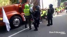 Paro Camionero: Abuso de policia en paro camionero, Colombia