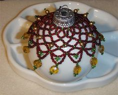 Free Beaded Ornament Cover Patterns | Ho Ho Holiday Crafts!!