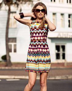 Aztec Dress #anoukblokker #aztecfashion www.2dayslook.com