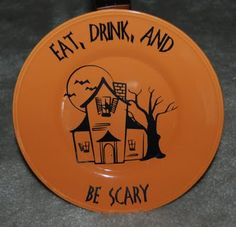 note to self look for orange color plates at The Dollar tree! (not my comment, but I like it!)
