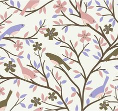 my purple sewing room would be about 9,000 times better with a wall or two of this wallpaper