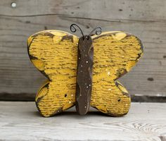 Butterfly Decor Nursery Decor Yellow Butterfly by therustygoose