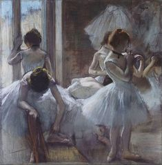 Edgar Degas (1834-1917, France) | Danceurs, 1884-85