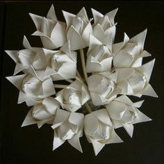 Bridal Origami Bouquet #Origami #Wedding