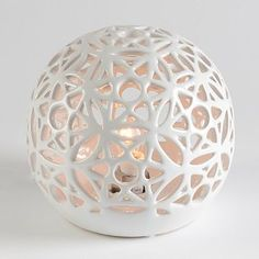 Ceramic White Pierced Night Light | Kirkland's