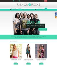 Fashion Rocks 1.0 is in 9 different color . It is specially suitable for dress, men's and women's wear. One of the major thing is that this themes is responsive design and compatible in Tablet device, PC and mobiles. Fashion Rocks 1.0 themes - 1 Column is in home, login  page and 2 Columns are in all pages. It's easy to install and do not takes more than 5 minutes.