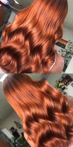 Copper for one of my clients this week what do you all think? More info in post - Cabello Rubio Copper Red Hair, Natural Red Hair, Copper Hair Colour, Bright Copper Hair, Hair Color Auburn, Hair Color Dark, Brown Auburn Hair, Light Red Hair, Long Red Hair