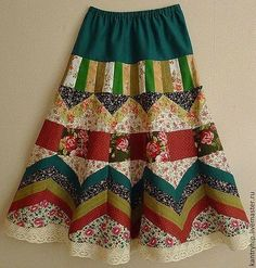 Fair Masters – Handbuch …, Source by Source by - Quilted Skirt, Patchwork Dress, Quilted Clothes, Sewing Clothes, Diy Maxi Skirt, Böhmisches Outfit, Look Con Short, Handmade Skirts, Latest African Fashion Dresses