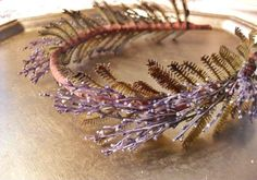 Etsy listing at http://www.etsy.com/listing/126959232/lavender-hair-crown-hair-accessory @Leslie Lippi Riemen Shankle @Courtney Baker Baker Gunder @Aubri Anderson I asked this chick to make one with wheat and baby's breath, she did she's going to try and send me a photo for approval within the next week, you like??