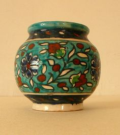 Old Lot of 3 Jerusalem Dead Sea Armenian Pottery Hand Painted Items Iznik Style | eBay