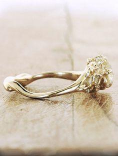 Unique Engagement Rings by Ken & Dana Design - Elsie side view