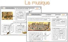 Fiches sur les instruments de musique et l'orchestre...