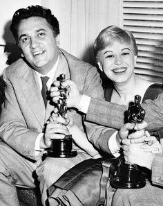 fuckindiva:  Federico Fellini and Giulietta Masina, 1957