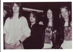 The Euronymous's face is lolololol Hellhammer, Necrobutcher, Euronymous and Kittil (the singer before Dead) - Mayhem