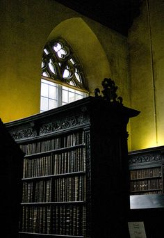 """""""Library Glow,"""" by Ned Fielden, via Flickr -- St. John's, Cambridge, England -- Click through to see more shots of this gorgeous library in the photostream."""