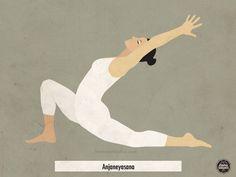 Chandrasana o postura de la luna según el Yoga Integral representa la energía femenina.