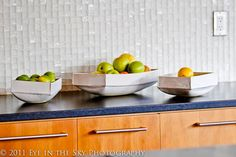 White Modern Bowl Large Ceramic Bowl Ceramic Fruit by jillzeidler