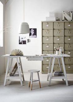 Styling: Cleo Scheulderman Photo: Alexander van Berge - Home Decorating DIY Interior Work, Interior Styling, Interior Architecture, Desk Styling, Office Workspace, Office Decor, Industrial Workspace, Industrial Storage, Office Inspo