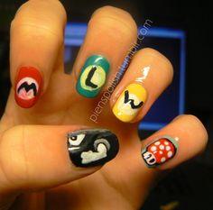 mario nails !