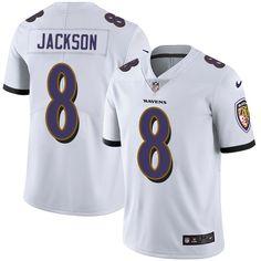 a6018ba0d Nike Ravens  8 Lamar Jackson White Men s Stitched NFL Vapor Untouchable  Limited Jersey